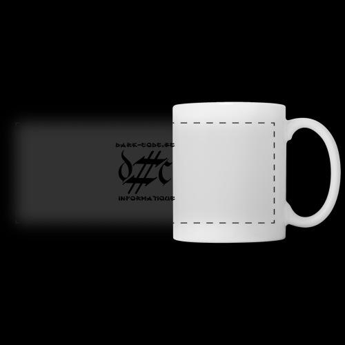 Dark-Code Black Gothic Logo - Mug panoramique contrasté et blanc