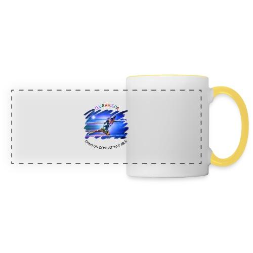 Guerrière dans un combat invisible - Mug panoramique contrasté et blanc