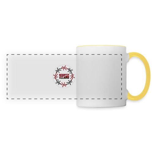 Badge Reunion Island Rouge - Mug panoramique contrasté et blanc