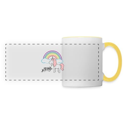Licorne arc-en-ciel - Mug panoramique contrasté et blanc
