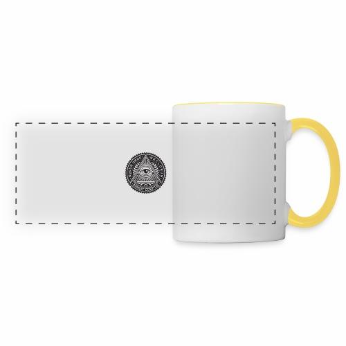 Pense Libre Bouge Libre - Mug panoramique contrasté et blanc