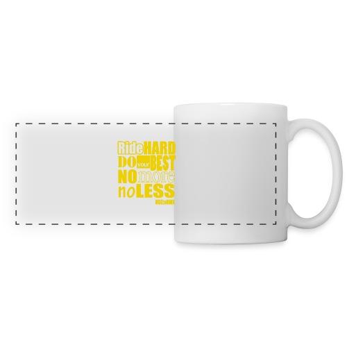 ridehard yellow - Panoramic Mug