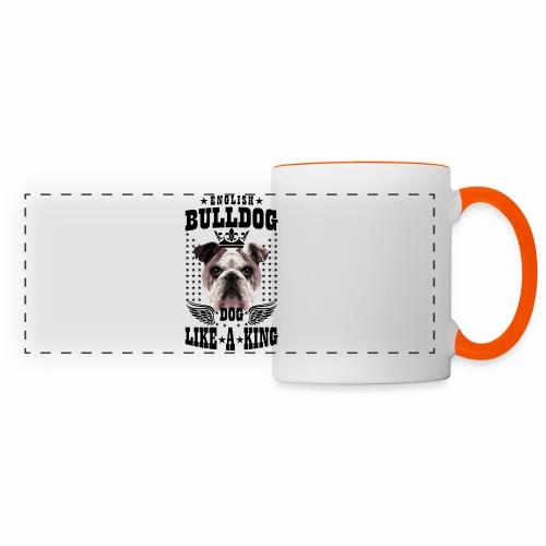 19 English Bulldog like a King Boss Bully Fun - Panoramatasse