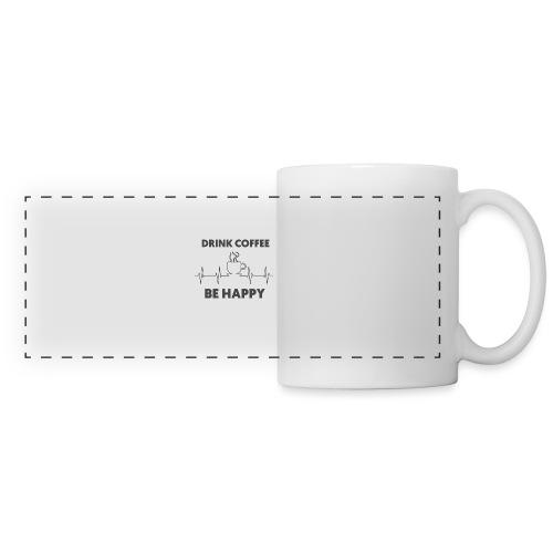 Kaffe Tasse mit Spruch - Panoramatasse