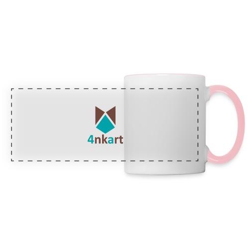 logo 4nkart - Mug panoramique contrasté et blanc