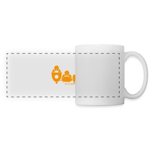 BASSET LOGO orange - Mug panoramique contrasté et blanc