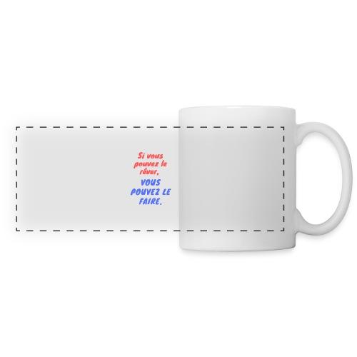 Si vous pouvez le rêver vous pouvez le faire - Mug panoramique contrasté et blanc