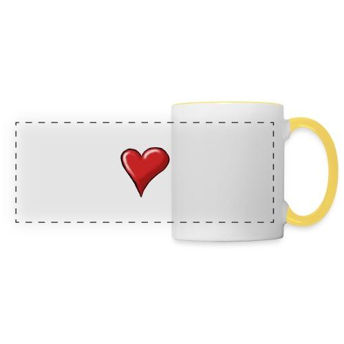 Love (coeur) - Mug panoramique contrasté et blanc