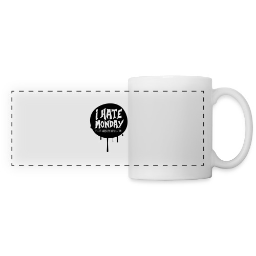 je déteste le lundi - Mug panoramique contrasté et blanc