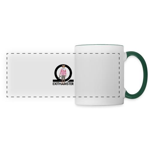 EXITHAMSTER LOGO WHITE BG - Panoramic Mug