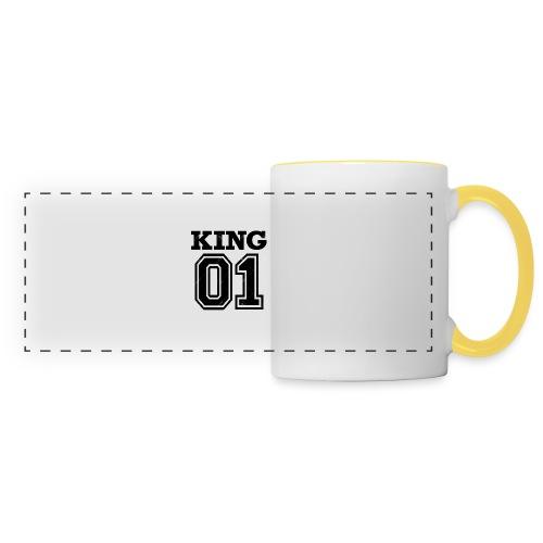 King 01 - Mug panoramique contrasté et blanc