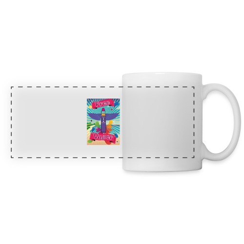 hawai png - Mug panoramique contrasté et blanc
