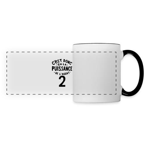 La puissance de l'agent 2 - Mug panoramique contrasté et blanc