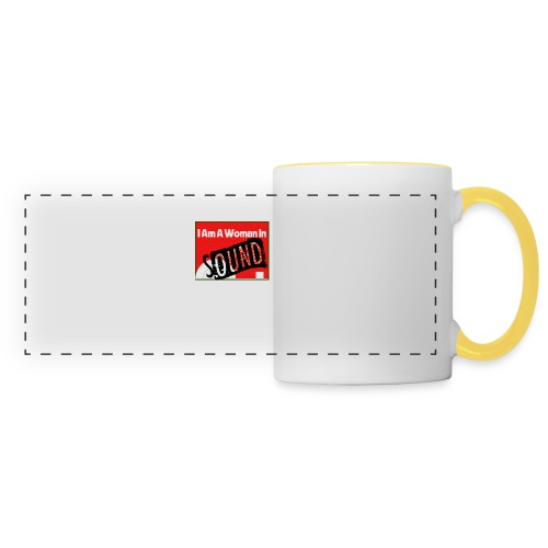 I am a woman in sound - red - Panoramic Mug