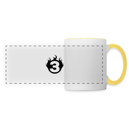 shoulder logoc - Mug panoramique contrasté et blanc