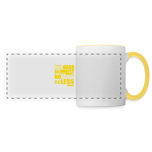 ridehard yellow - Panoramic Mug