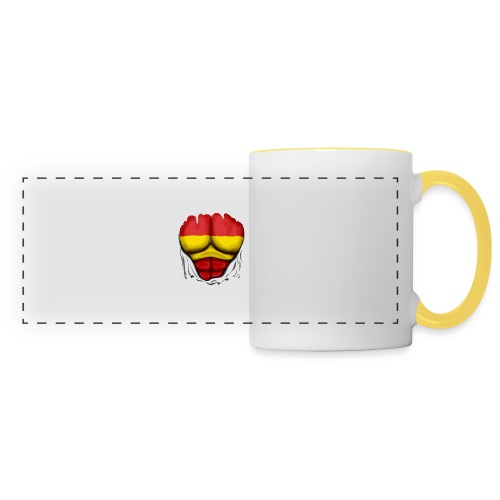 España Flag Ripped Muscles six pack chest t-shirt - Panoramic Mug