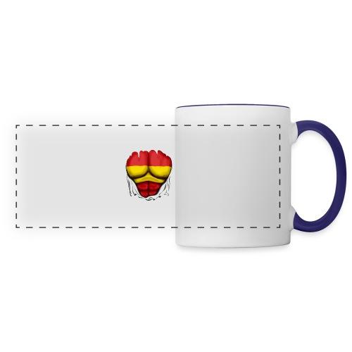 España Flag Ripped Muscles six pack chest t-shirt - Panoramic Mug