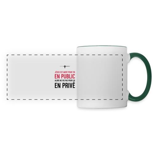 Public ou privé - Mug panoramique contrasté et blanc