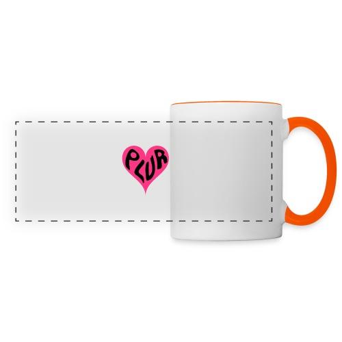 PLUR - Peace Love Unity and Respect love heart - Panoramic Mug
