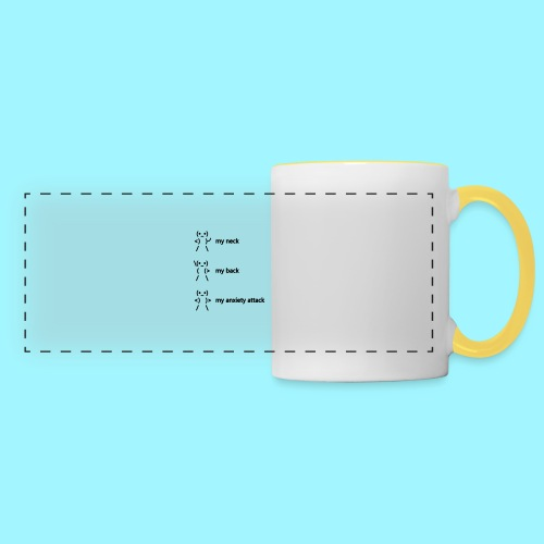 neck back anxiety attack - Panoramic Mug