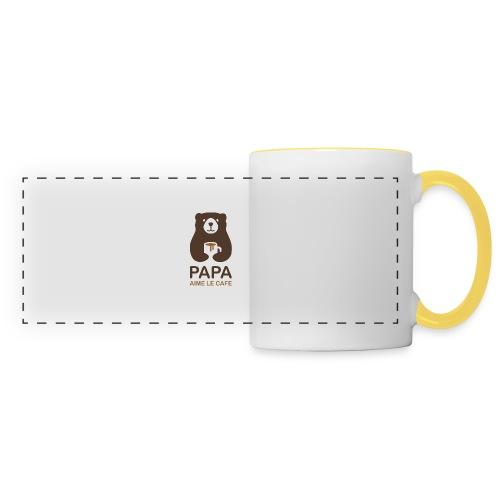 Papa aime le café - Mug panoramique contrasté et blanc