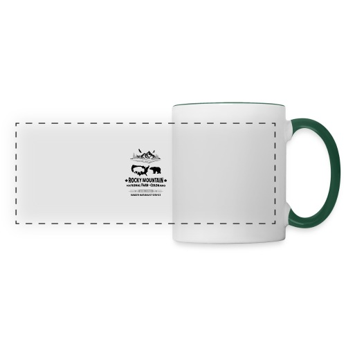 Rocky Mountain Nationalpark Berg Bison Grizzly Bär - Panoramic Mug
