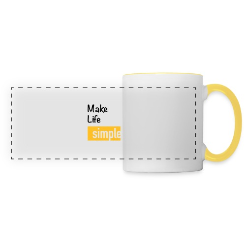 Make Life Simple - Mug panoramique contrasté et blanc