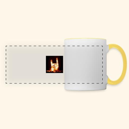fingers bomb - Mug panoramique contrasté et blanc