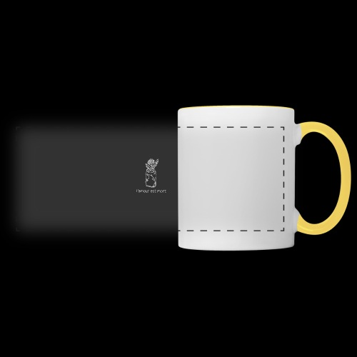 l'amour est mort - Mug panoramique contrasté et blanc
