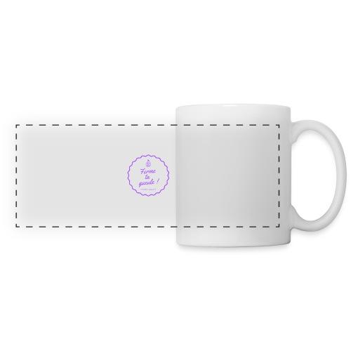 Ferme ta gueule ! - Mug panoramique contrasté et blanc