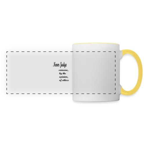 Never Judge - Panoramic Mug
