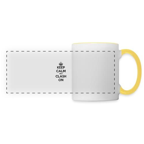 tasse keep calm and clash on - Mug panoramique contrasté et blanc