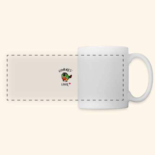 Conures' Lover: opaline - Mug panoramique contrasté et blanc