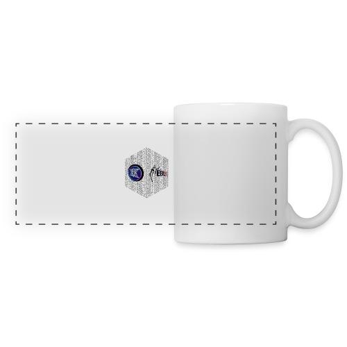 disen o dos canales cubo binario logos delante - Panoramic Mug