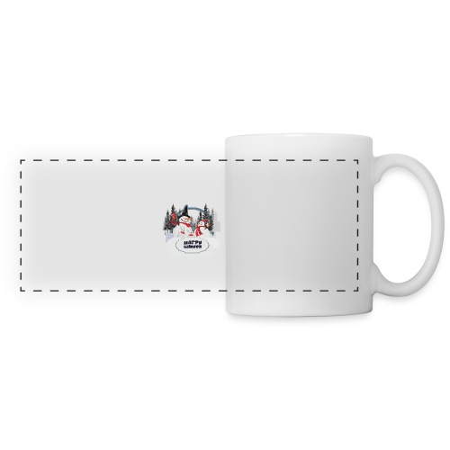 happy winter - Mug panoramique contrasté et blanc