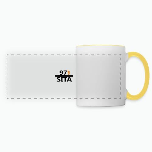 Sweat manche longue 97-Sita - Mug panoramique contrasté et blanc