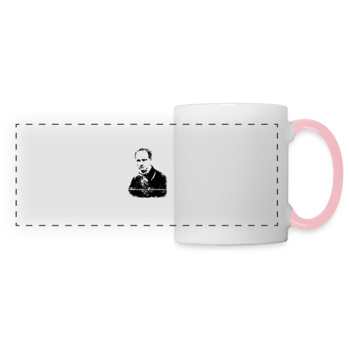 Charles Baudelaire - Mug panoramique contrasté et blanc