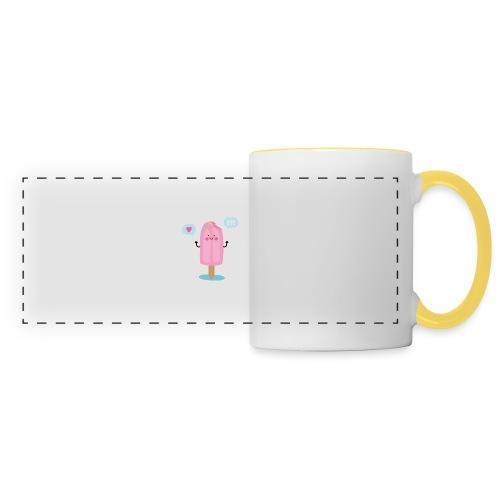 Pink Ice creem - Mug panoramique contrasté et blanc