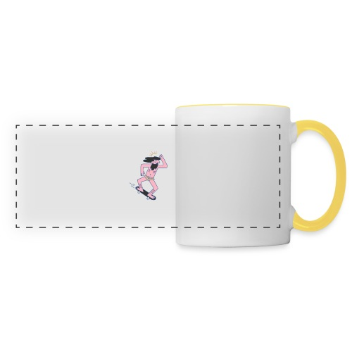 cool jezuz - Mug panoramique contrasté et blanc