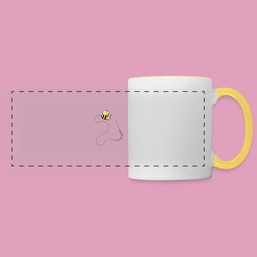 Bzzz les abeilles ! (Tasses) - Mug panoramique contrasté et blanc