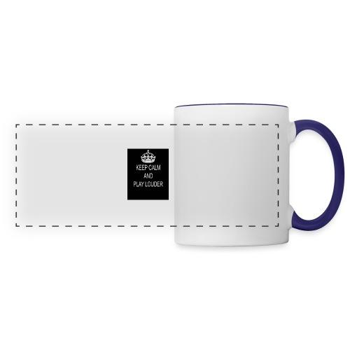 keep calm play loud - Mug panoramique contrasté et blanc