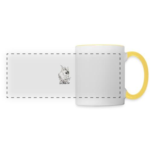 Ecureuil la clope - Mug panoramique contrasté et blanc