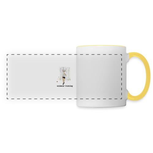 Antilope running - Mug panoramique contrasté et blanc
