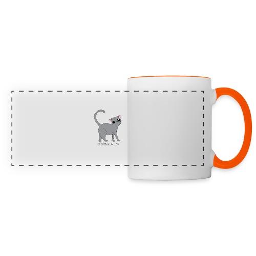 Bibi chat gris - Mug panoramique contrasté et blanc