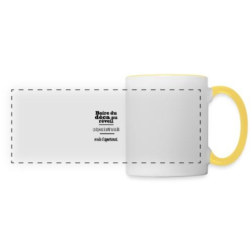 café - Mug panoramique contrasté et blanc