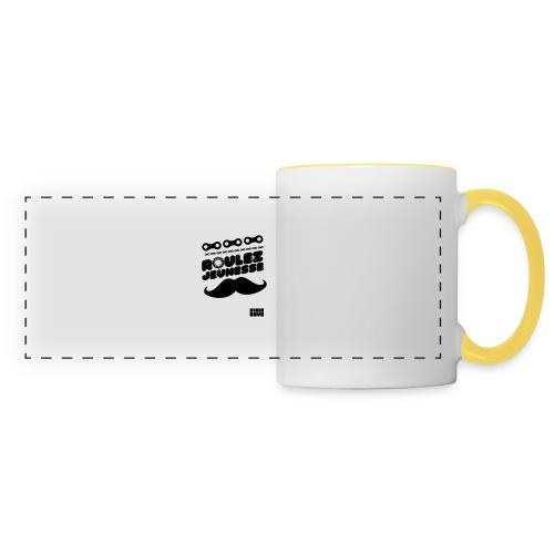 tee-shirt fixie - Mug panoramique contrasté et blanc
