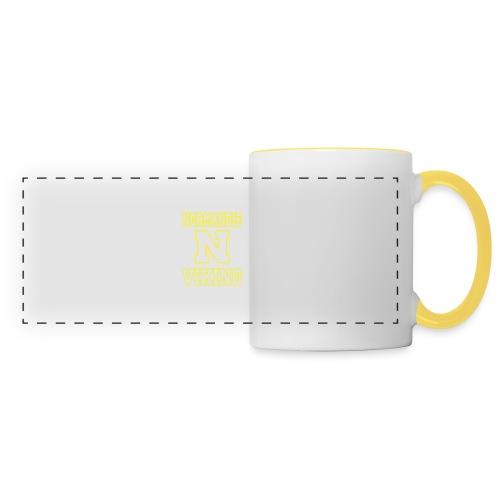 Normandie Viking Def jaune - Mug panoramique contrasté et blanc