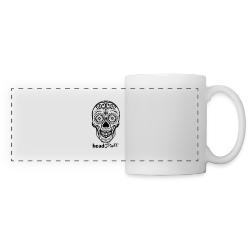 Skull & Logo black - Panoramatasse