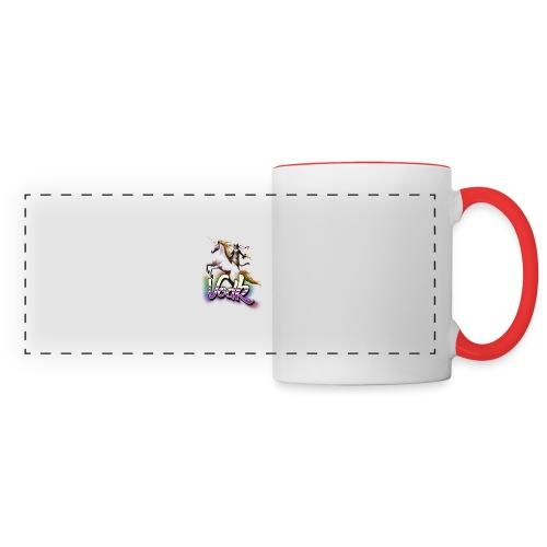 VodK licorne png - Mug panoramique contrasté et blanc